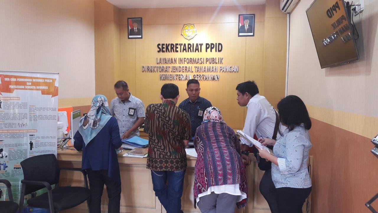 Tim Juri Pemeringkatan Keterbukaan Informasi Publik Lingkup Kementan Visitasi di PPID Pelaksana Eselon I