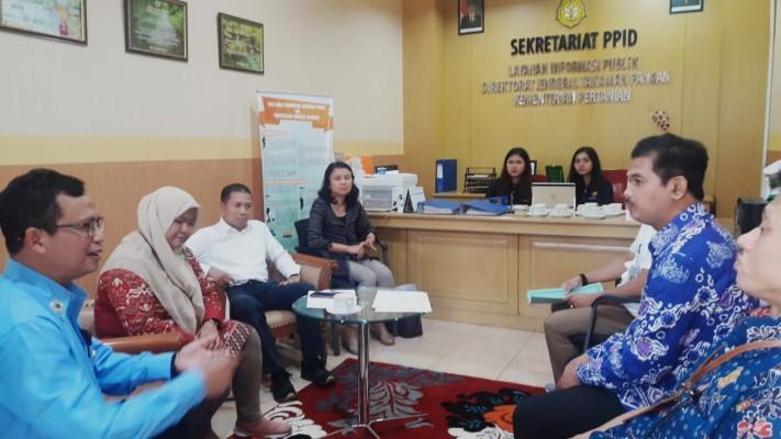 Direktorat Jenderal Tanaman Pangan mendapat kunjungan visitasi dari Tim Penilai Pemeringkatan KIP