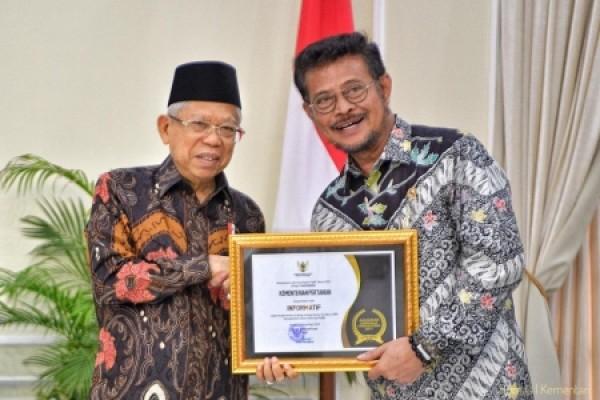 Kementan Raih Penghargaan Keterbukaan Informasi Publik sebagai Badan Publik yang Informatif